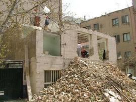 تخریب ساختمان به روش بالا به پایین(دستی)