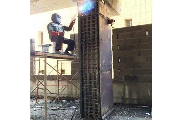 تقویت ستون بتنی با ژاکت فلزی